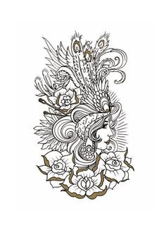 1000 Images About Coloriages Adultes Tatouages On