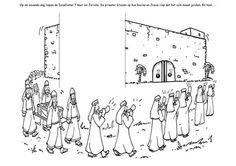 Achan Sinned: Joshua 7; Coloring Page: (Joshua praying