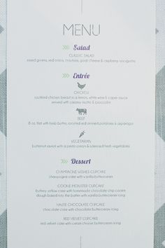 1000+ images about Catering menu samples on Pinterest