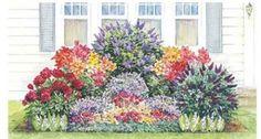 shade plants; perennials zone 5; garden plans