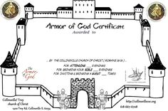Armor of god, Vacation bible school and Armors on Pinterest