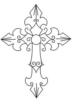 Crosses, Stencils and Stencil designs on Pinterest