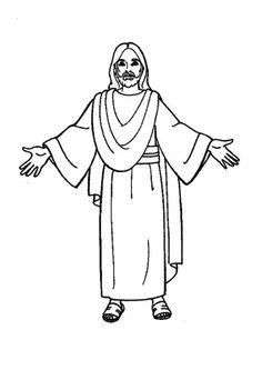 Kostenlose Malvorlage Szenen aus der Bibel Jesus spricht