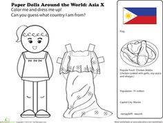 This Philippines coloring page helps us learn that there