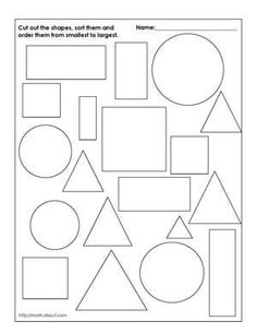 Primary geometry worksheets. Worksheets to help children