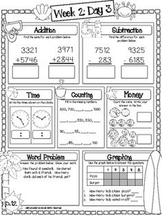 printable summer review packets- common core math and
