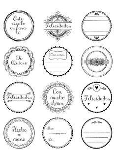 Etiquetas redondas para imprimir gratis personalizadas