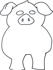 Piggy bank pattern. Use the printable outline for crafts