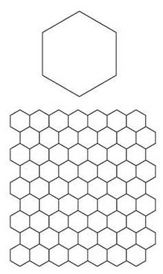 Printable Hexagon Template and English Paper Piecing