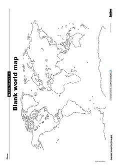 World Robinson Global Projection map, printable blank
