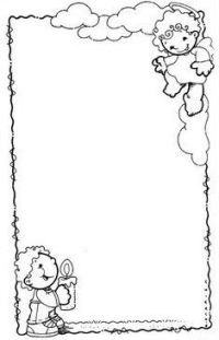 dibujo de bordes de navidad con campanas y lazos de ...