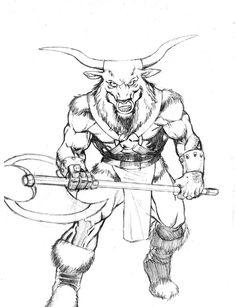Half man, half bull; the Minotaur lives in the mythos of