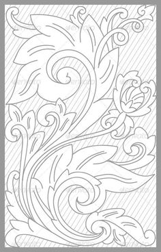 Sheridan style, floral flowers Leather tooling pattern for