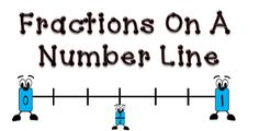 Fraction Number Line Worksheet, a 3rd grade fraction