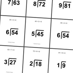 Division, Flashcard and Cards on Pinterest