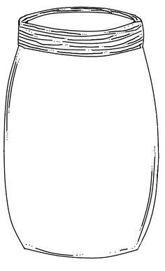 Mason Jar Printable: Use to create fingerprint lightning
