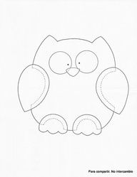 Fall Kitchen Crafts: Owl Towels Printable Owl Template