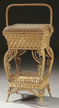 late 1800's / early 1900's Woven Antique Sewing Basket ...