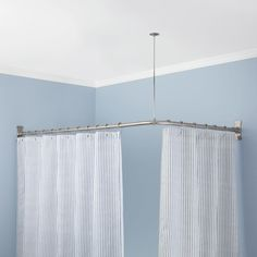 Cheap 90° Shower Curtain Rod Curtain Rods The Glass And To Round