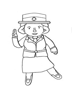 Girl scouts, Flats and Coloring pages on Pinterest