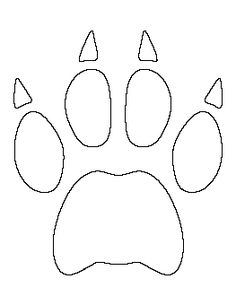 Tiger head pattern. Use the printable outline for crafts