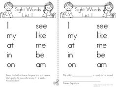FREE Dolch 220 Sight Words: Pre Primer and Primer Daily