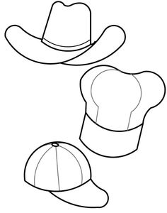 Hart hat pattern. Use the printable outline for crafts