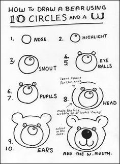 How to draw a cartoon polar bear. Students could use this
