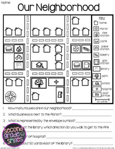 Teach basic map skills with this printable map activity
