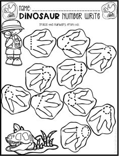 Dinosaur Preschool No Prep Worksheets & Activities