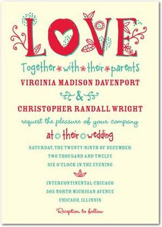Cool Wedding Invitation Blog Informal