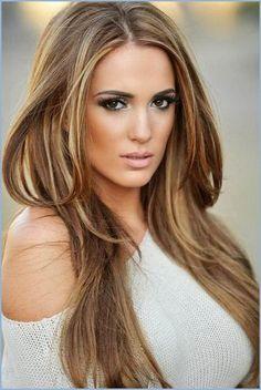 Highlights Hairstyle Hair Style Pinterest Braunes Haar Mit