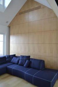 Modern wall panels in all natural dark walnut wood veneer ...