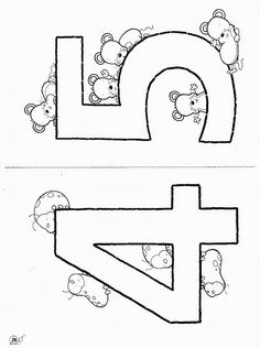 nice Numbers Coloring Pages 0,1,2,3,4,5,6,7,8,9 and 10