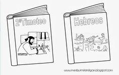 Books of the Bible coloring page. Libros de la Biblia