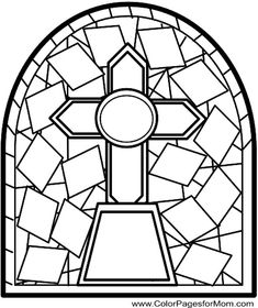 Stained Glass Cross Stock Photos, Pictures, Royalty Free