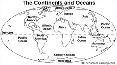 Have students cut and paste labels for 7 continents and 4