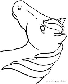 Horse head pattern. Use the printable outline for crafts