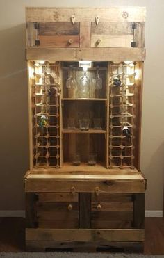 reclaimed wood kitchen tables christmas rugs pallet liquor cabinet | diy pinterest ...
