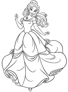 Beauty and the Beast Coloring Sheets. Free printables to