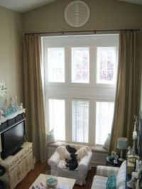 Tall Window Curtains on Pinterest | Tall Windows, Window ...