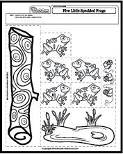 Five Little Speckled Frogs song sheet (SB10901
