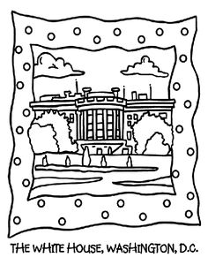 White houses, Coloring pages and Coloring on Pinterest