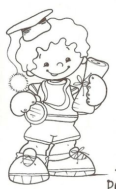 Graduation Coloring Page for Preschool and Kindergarten