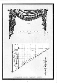 Swag curtain Pattern with directions and tips. More tips