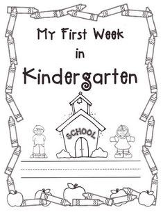 Back to school print out! Have students color themselves