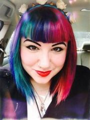 bright fun and funky hair colors