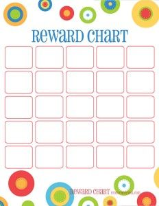 Think Before You Link  Child Reward Chart Template