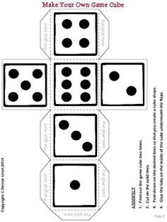 Dice, Templates and Review games on Pinterest