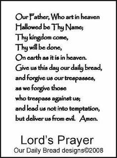 The Lord's Prayer. NIV. DIY. PDF. A3 for 11x14. Printable